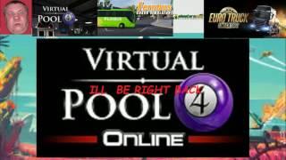 Shooters Pool v Virtual Pool 4 Chin on cue