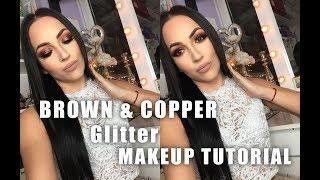 BROWN & COPPER Glitter Smokey Eye | Tamara Pavicevic