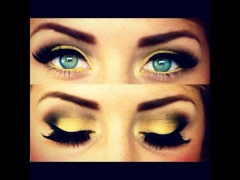 Summer Yellow Eyes Makeup Tutorial Youtube