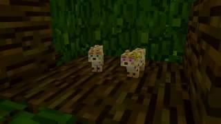 Жизнь кошки и котят майнкрафт анимация