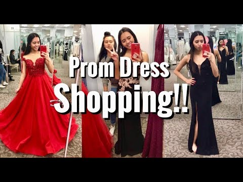 PROM DRESS SHOPPING 2018!!