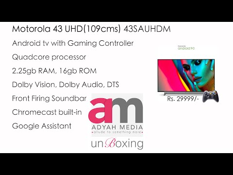 "Motorola 43"" 4K Android TV Unboxing and review... (മോട്ടോറോള 43"" 4K ആഡ്രോയ്ഡ് ടിവി)"