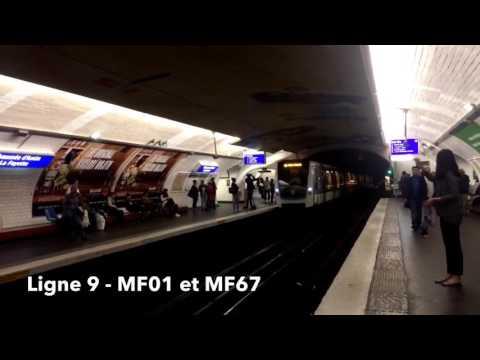 Métro de Paris Lignes 1 à 14   Paris Metro Lines 1 to 14