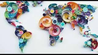 Красочный квиллинг от турецкой художницы Сены Руны.