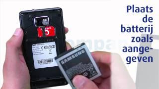 Samsung Galaxy S 2 - Het installeren van de SIM-kaart