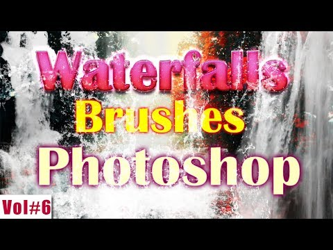 Waterfalls Brushes Effect For Photoshop Vol#6 [desimesikho] 2018