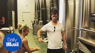 Chris Hemsworth shows off incredible wine shooting skill - Daily Mail