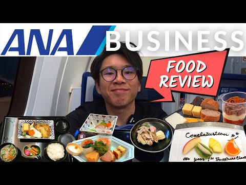 First time flying ANA Business Class! DETAILED FOOD REVIEW | TOKYO-KUALA LUMPUR (EN/中CC)