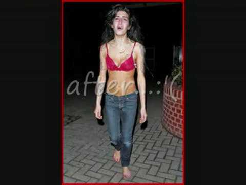Amy Winehouse - before and after