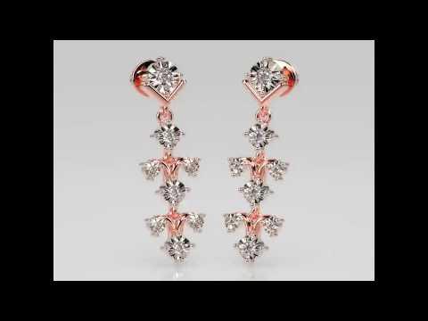WINCHIME MIRACLE PLATE DIAMOND EARRINGS