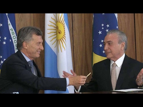 Trade, economic ties a focus in Argentinian president's visit to Brazil