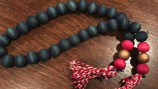 How to make colored wood bead garland