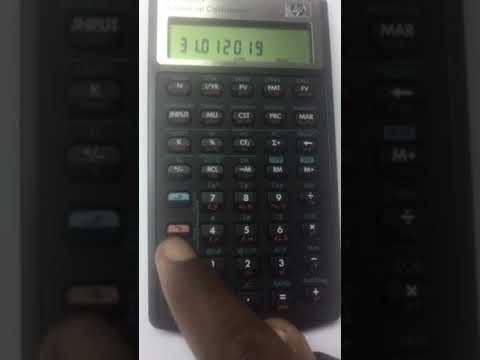 Calculating Number Of Days Using Financial Calculator: HP 10bII