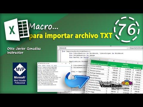 Macro para importar archivo TXT | VBA Excel 2016 #76