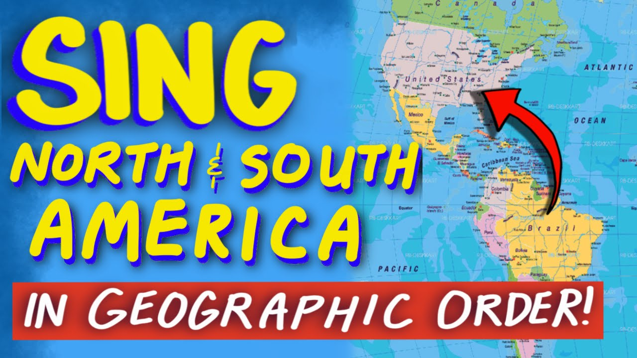 South America Map Song.North And South America Countries Song From Tap The World Youtube