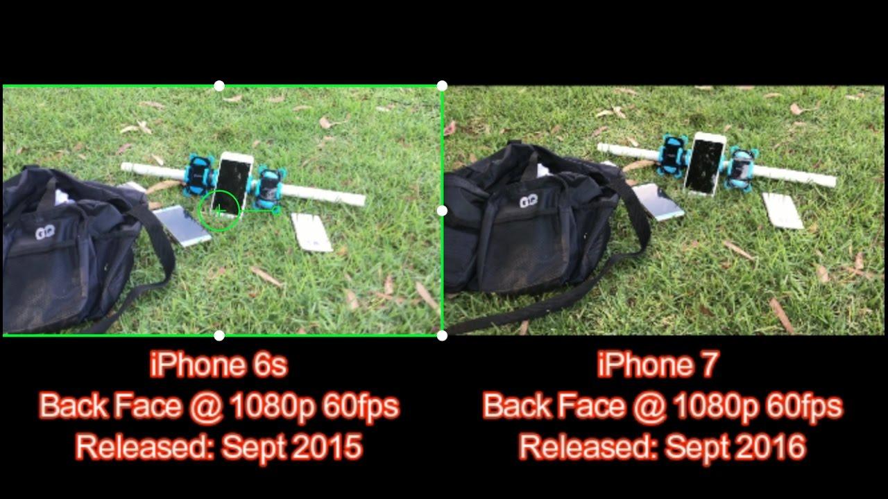 iPhone 7 vs. iPhone 6S: 1080P HD @ 60 Frames Per Second (fps) Camera ...