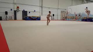 Художественная гимнастика. Беляева Елизавета 3 год обучения б/п