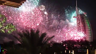 Dubai New Years Eve NYE Fireworks Burj Al Arab Jumeirah Beach