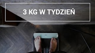 cel redukcja 3 kg w tydzień