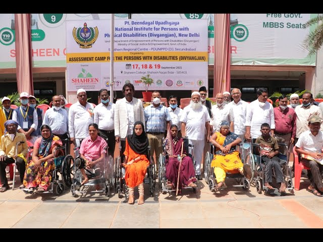Shaheen Group of Institutions organised an Assessment Camp for the Persons with Disabilities