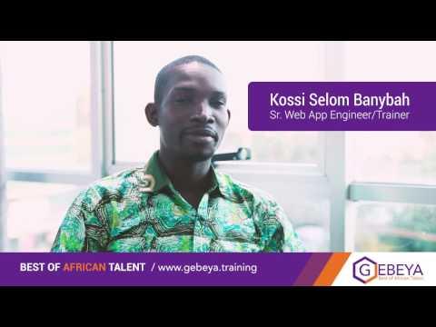 Gebeya Senior API Backend Engineer and Trainer: Kossi Selom Banybah