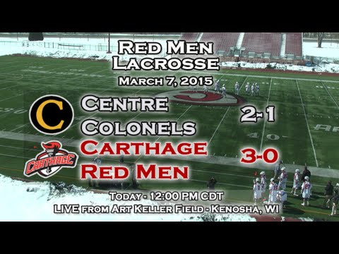 Carthage Men's Lacrosse vs. Centre 2015_03_07
