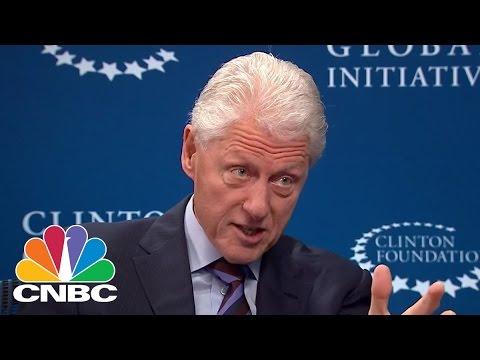 Bill Clinton Talks Trade And Taxes | Squawk Box | CNBC
