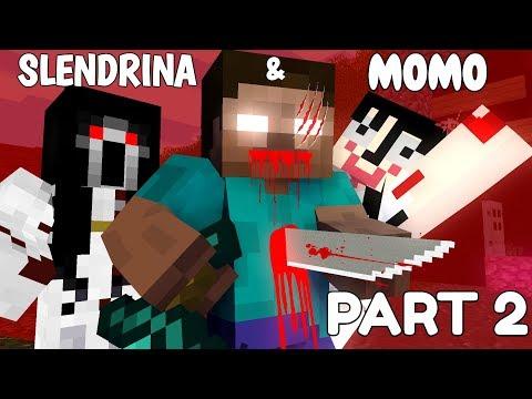 Monster School: SLENDRINA & MOMO PART 2 - Minecraft Animation thumbnail