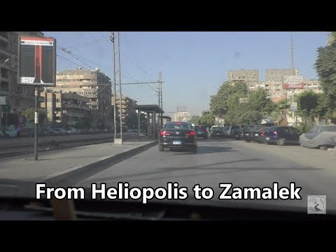 From Heliopolis to Zamalek via Salah Salem Street with high traffic