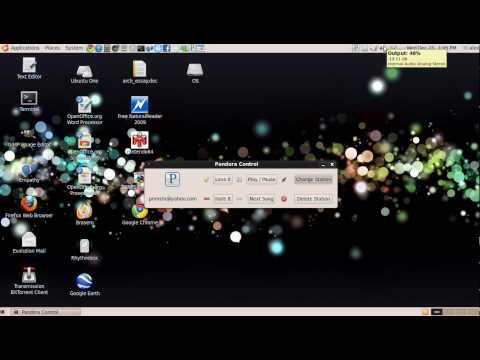 Ubuntu Pandora Radio Desktop Application - Pandora Control
