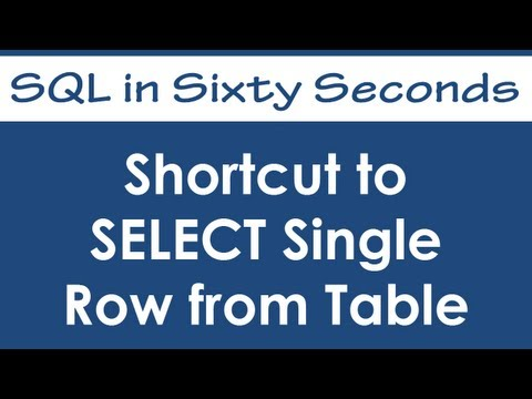 SQL SERVER - Shortcut to SELECT Single Row from Table - SQL in Sixty Seconds #046 - Video hqdefault