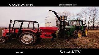 [200 WIDZÓW] Nawozy na pszenicę 2015 - John Deere 6600 & MF 255 ✭HD SebuhhTV✭