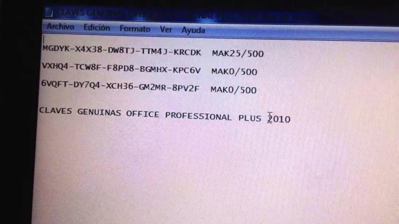 claves para activar office 2010 en windows 10