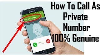 How to call as Private Number || Unknown Number || Anonymous Number