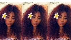 Brazilian Tight Curly Hair   Install & Color Ft Queen Weave Beauty LTD