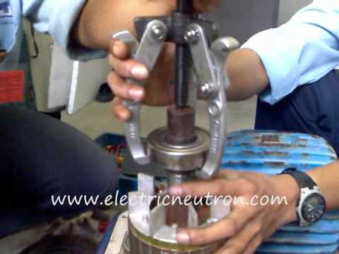 How To Replace Bearing For Induction Motor Youtube