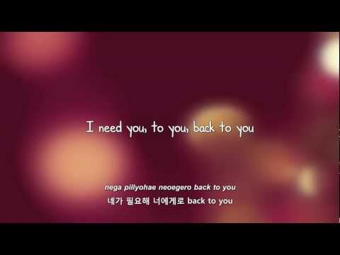 BEAST- Back to You lyrics [Eng. | Rom. | Han.]