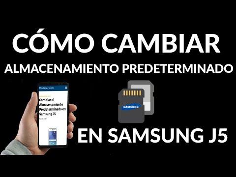 Cambiar el Almacenamiento Predeterminado en Samsung J5