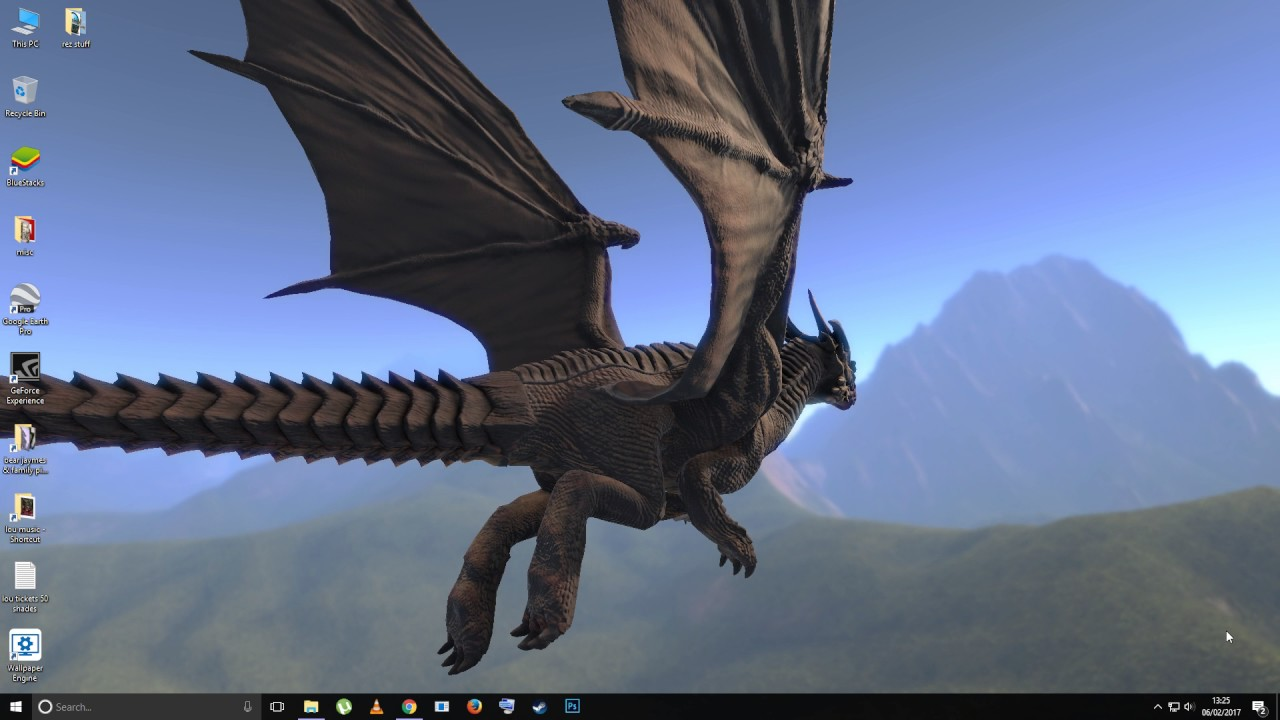 Wallpaper Engine Test 3D Dragon