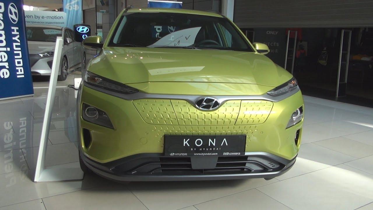 Hyundai Kona Electric Acid Yellow (2018) Exterior and Interior