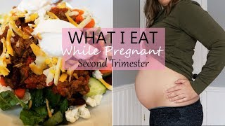 WHAT I EAT IN A DAY  SECOND TRIMESTER  Pregnancy edition!