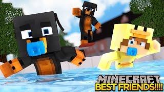 minecraft best friends go swimming little baby max adventures