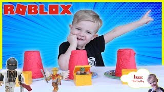 Roblox Cup Game and toy review with Peppa Pig playtime with Isaac!
