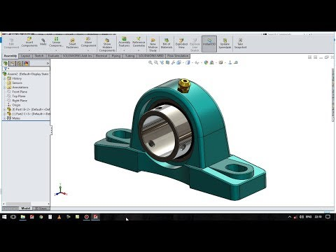 solidworks tutorial # 39 how to create sketch pillow block