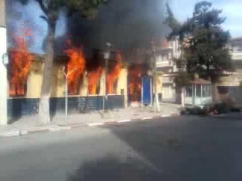 algeria-sidi-embarek-events-post office burning.mp4