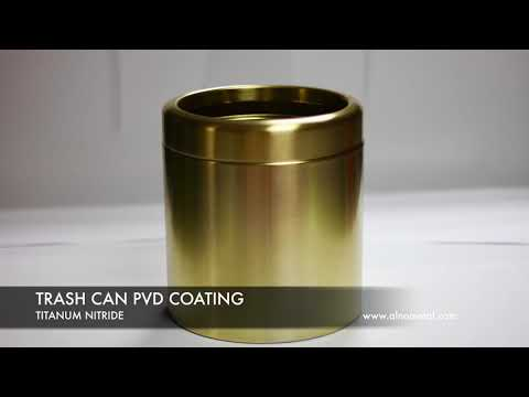 ALNO METAL TURKEY -PVD GOLD  COATING-TITANIUM COATING-GOLD COATING TRASH CAN