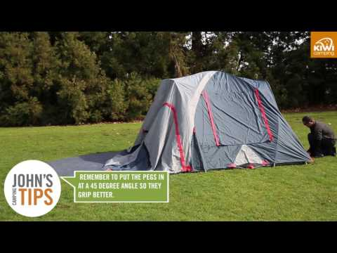 Kiwi Camping Kea 5E Recreational Dome Tent - Pitching