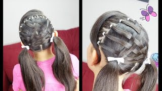 Basket Woven Pigtails | Cute Girly Hairstyles | Hairstyles for School