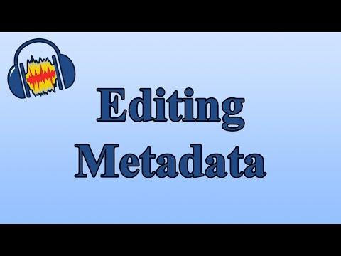 Editing Metadata With Audacity