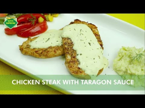 Chicken Steak with Tarragon Sauce